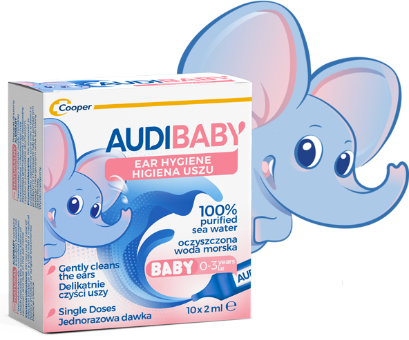 Audibaby is the best solution to clean baby's ears with no risk at all.